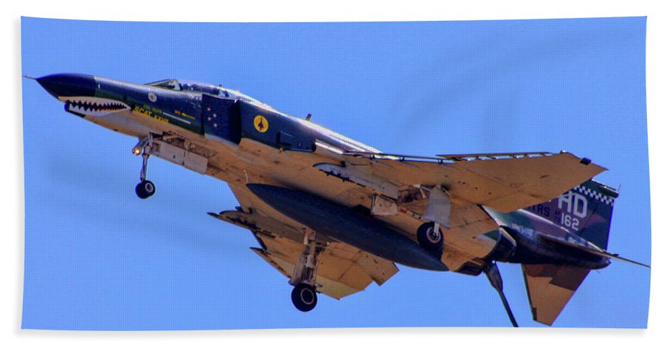 Ca Airshow 2012 Beach Towel featuring the photograph Qf-4 Phantom II 3 by Tommy Anderson