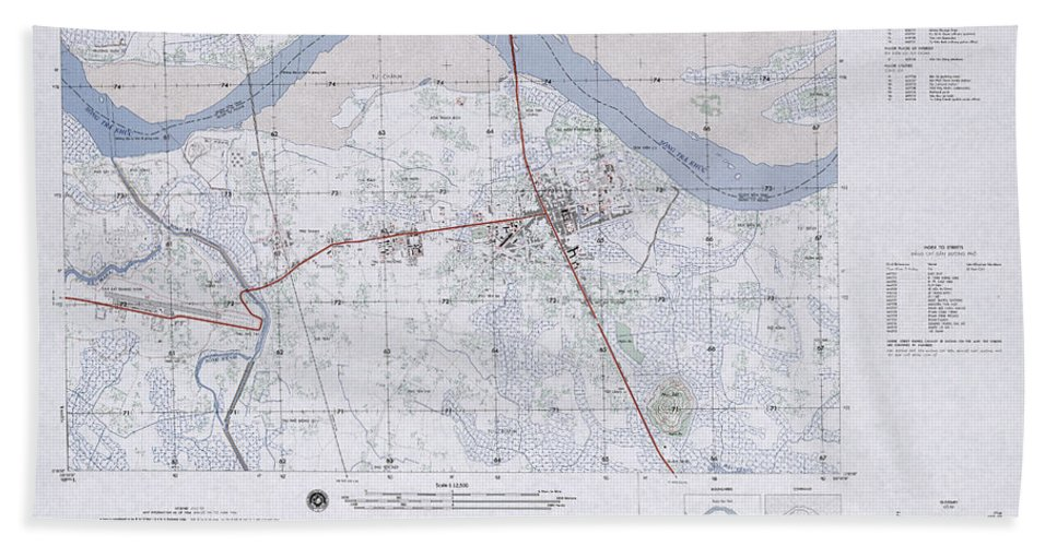 Quang Ngai Vietnam Map.Quang Ngai South Vietnam 1966 Beach Sheet For Sale By Maps Of Vietnam