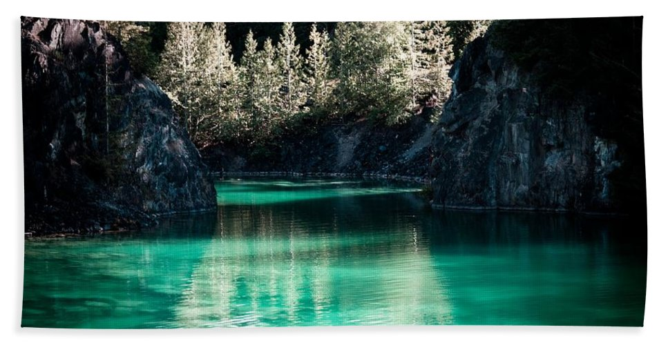 Quarry Beach Towel featuring the photograph Quarry Waters by Danielle Silveira