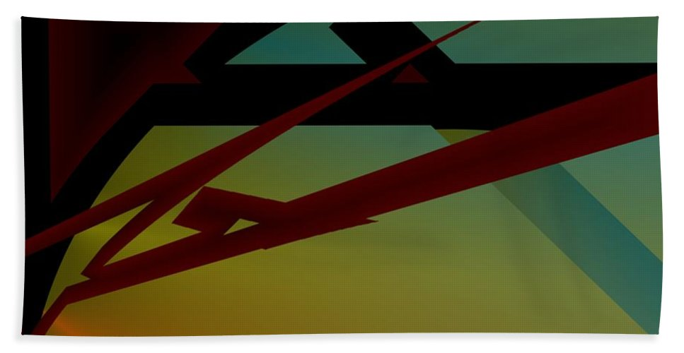Quarter Beach Towel featuring the digital art Quarter by Helmut Rottler
