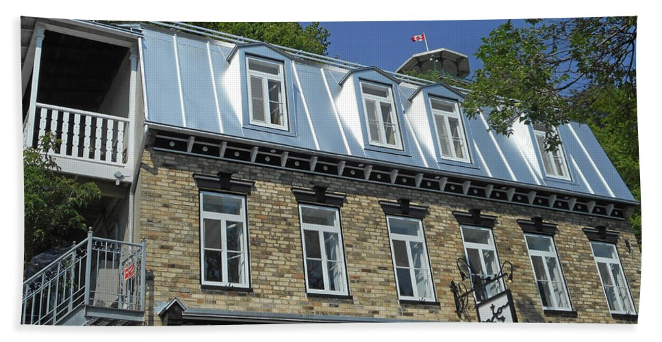 Quebec City Beach Towel featuring the photograph Quebec City 56 by Ron Kandt