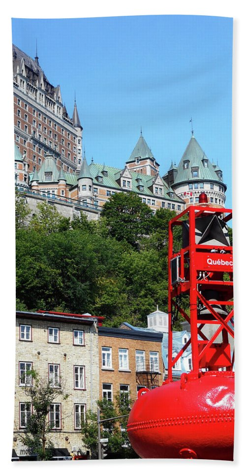 Quebec City Beach Towel featuring the photograph Quebec City 57 by Ron Kandt