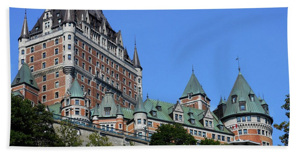 Quebec City Beach Towel featuring the photograph Quebec City 59 by Ron Kandt