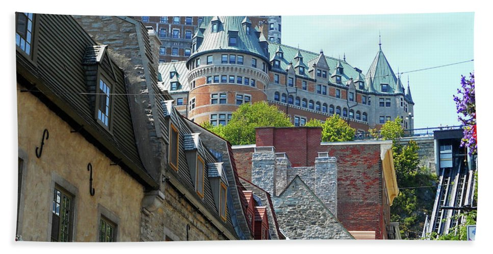 Quebec City Beach Towel featuring the photograph Quebec City 61 by Ron Kandt