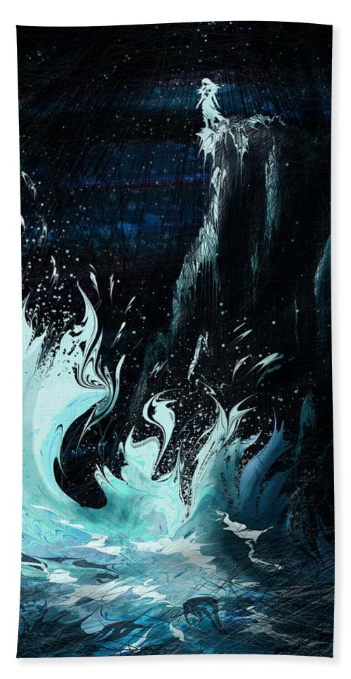 Abstract Beach Towel featuring the digital art Queen of the Seas by William Russell Nowicki