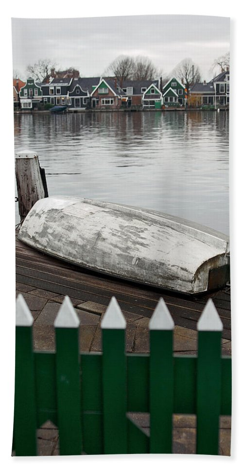 Lawrence Beach Towel featuring the photograph Quiet Day Off by Lawrence Boothby