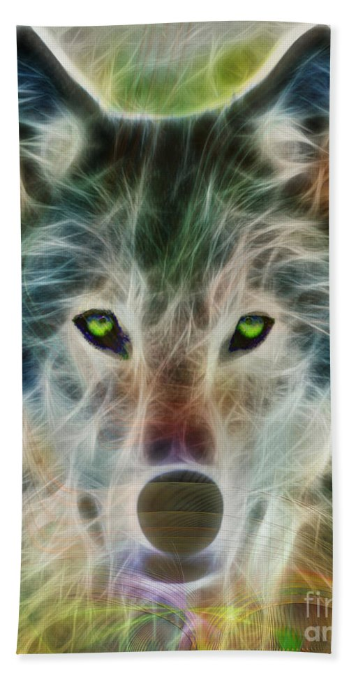 Quiet Majesty - Fractalized Version Beach Towel featuring the digital art Quiet Majesty - Fractalized Version by John Beck
