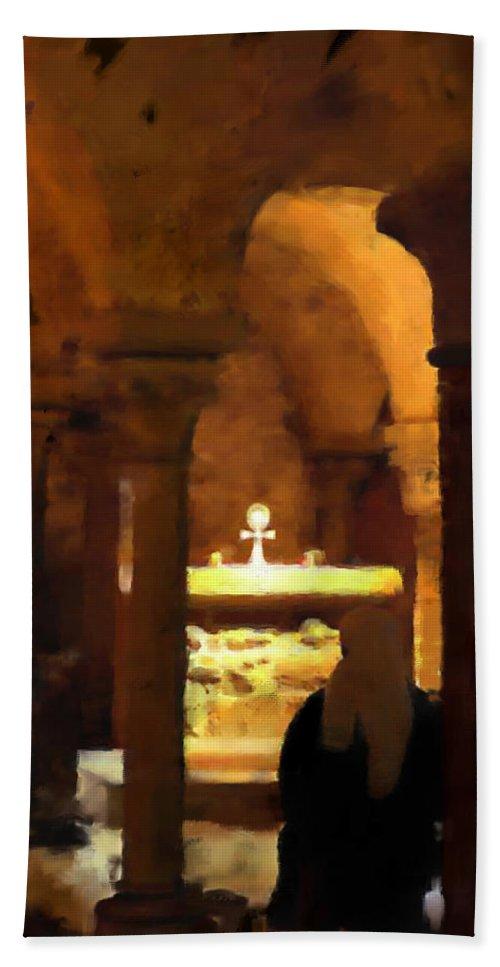 Prayer Beach Sheet featuring the painting Quiet Prayers by Stephen Lucas