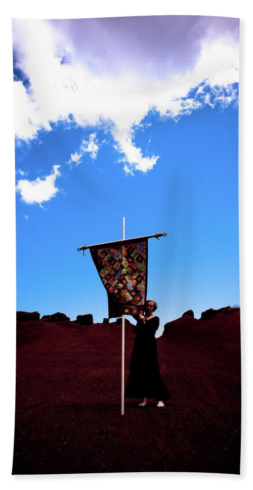 Quilt Beach Towel featuring the photograph Quilted Sky by Scott Sawyer