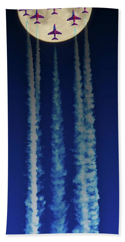 Moon Beach Towel featuring the photograph Racing For The Moon by Chris Lord