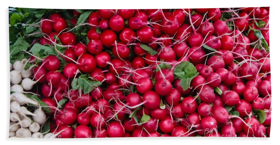 Radish Beach Towel featuring the photograph Radishes by Thomas Marchessault