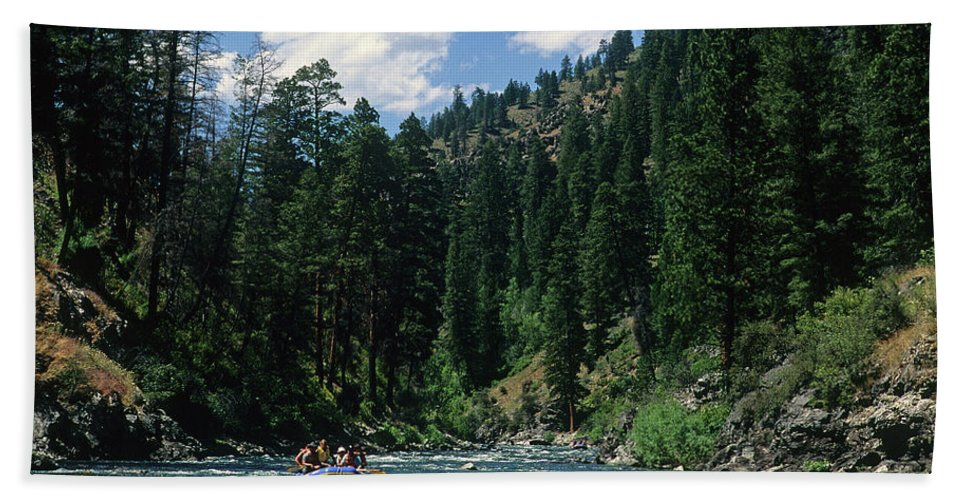 Snake River Beach Towel featuring the photograph Rafting by Steve Williams