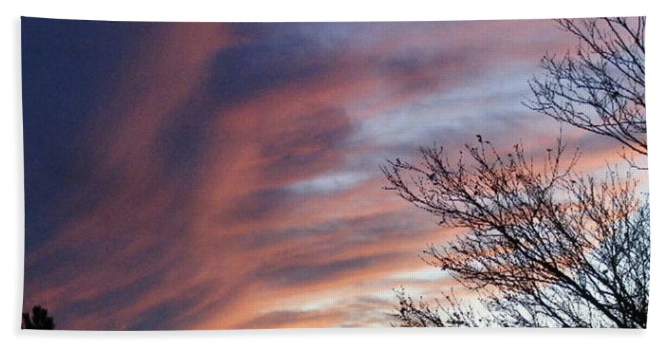 Blue Sky Beach Towel featuring the photograph Raging Sky by Barbara Griffin