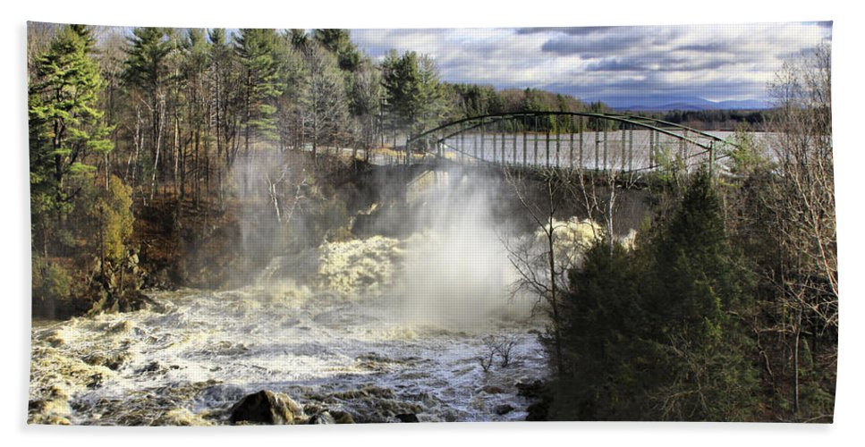 Falls Beach Towel featuring the photograph Raging Water by Deborah Benoit