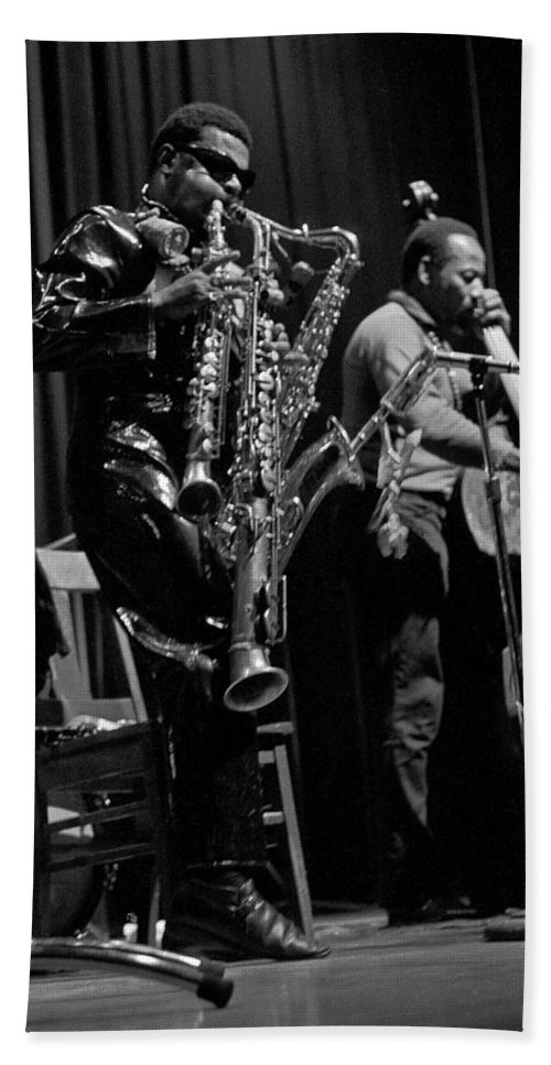 Rahsaan Roland Kirk Beach Towel featuring the photograph Rahsaan Roland Kirk 1 by Lee Santa