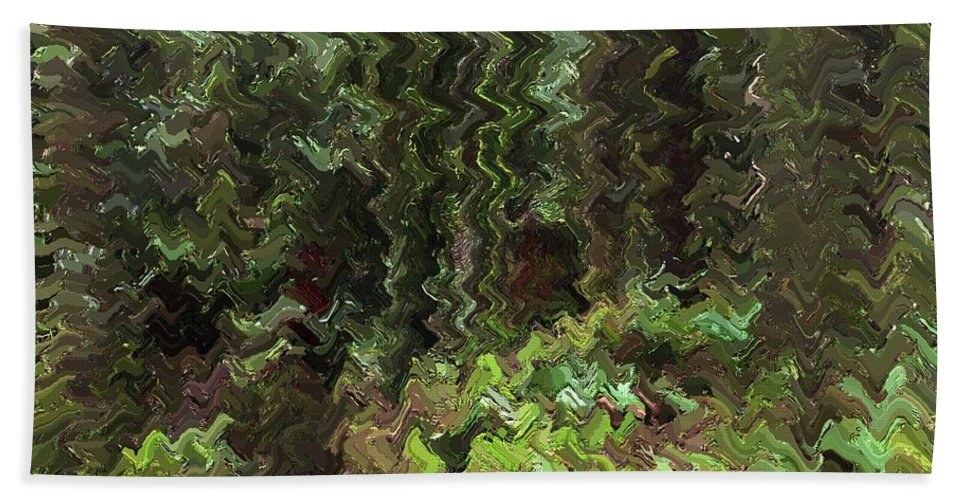 Rain Forest Beach Towel featuring the digital art Rain Forest Abstract by Sharon Talson