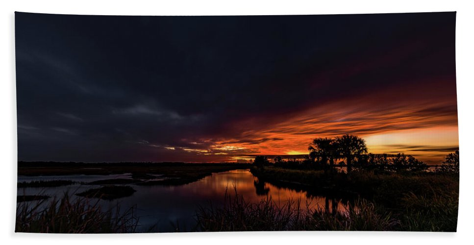 Indian River Beach Towel featuring the photograph Rain Or Shine - by Norman Peay