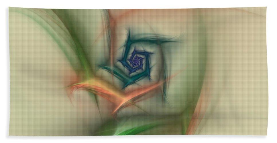 Apophysis Beach Towel featuring the digital art Rainbow Basic Flower by Deborah Benoit