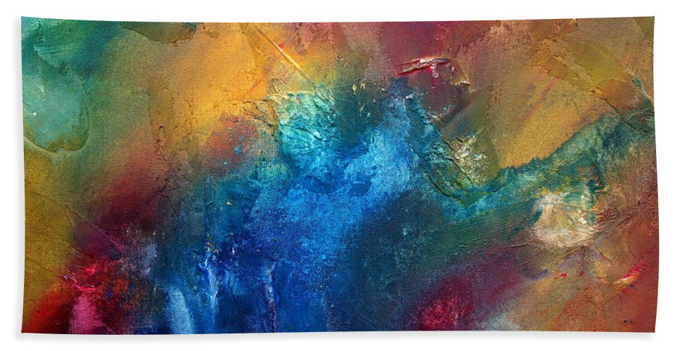 Wall Beach Towel featuring the painting Rainbow Dreams II By Madart by Megan Duncanson
