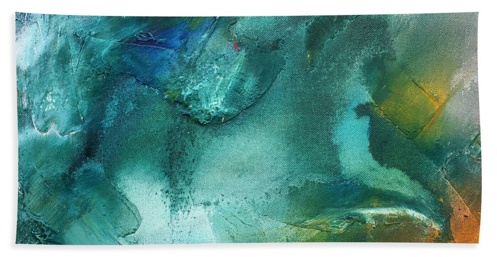 Wall Beach Towel featuring the painting Rainbow Dreams Iv By Madart by Megan Duncanson