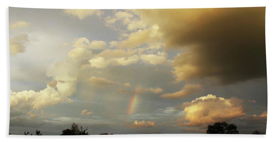Brad Brailsford Beach Towel featuring the photograph Rainbow House by Brad Brailsford