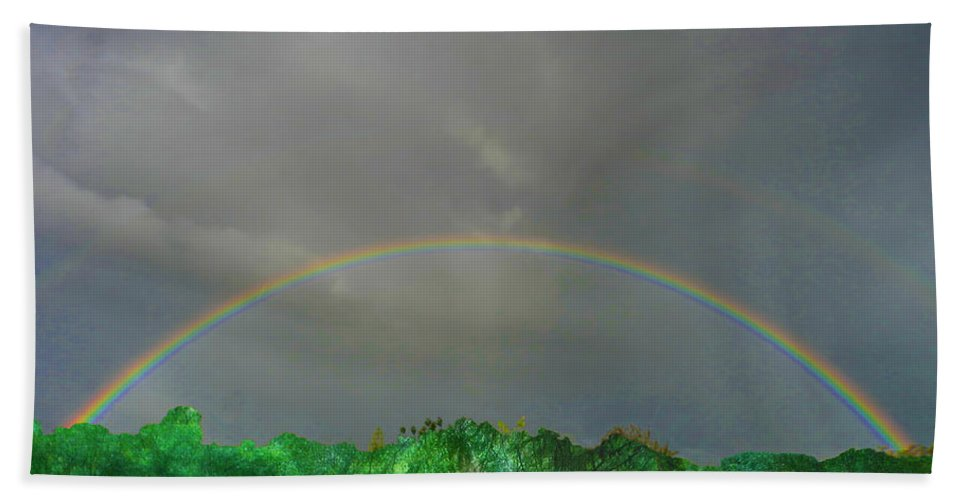 Rainbow Beach Towel featuring the photograph Rainbow by Mark Blauhoefer