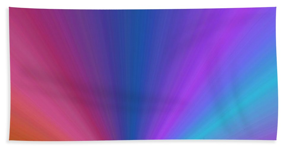 Ferry Beach Towel featuring the photograph Rainbow Setting by Tim Allen