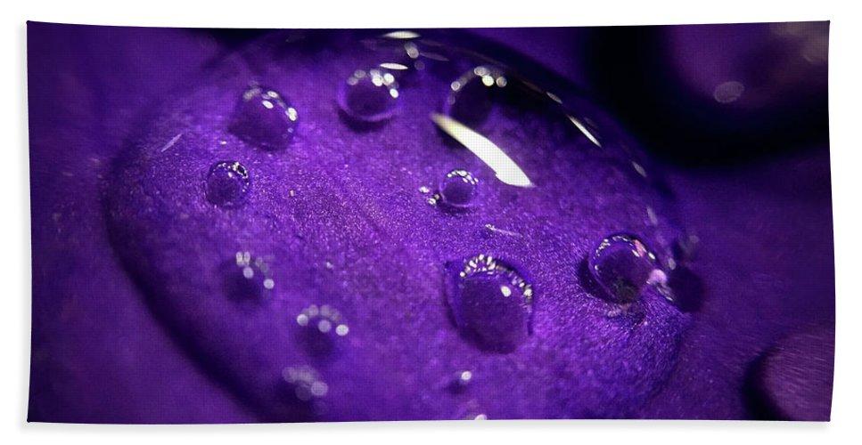 Fantasy Beach Towel featuring the photograph Raindrop, Prn by Michael Van Huffel