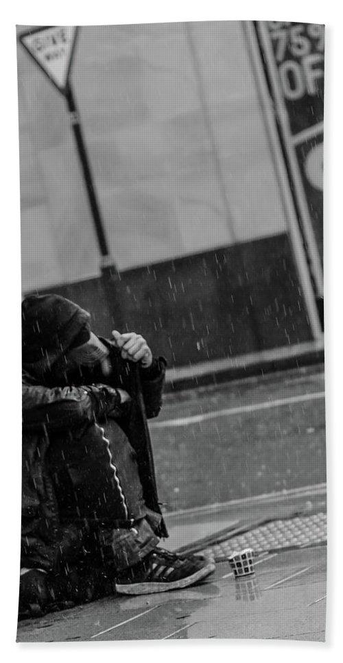 Rain Beach Towel featuring the photograph Rainy Days by Lee Pirie