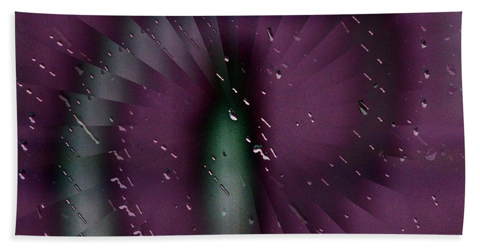 Rain Beach Sheet featuring the digital art Rainy Window by Tim Allen