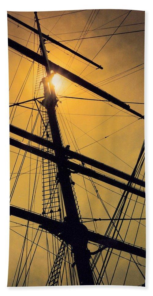Ship Beach Towel featuring the photograph Raise The Sails by Lauri Novak