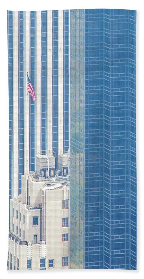 Architecture Beach Towel featuring the photograph Raising The Flag by Az Jackson