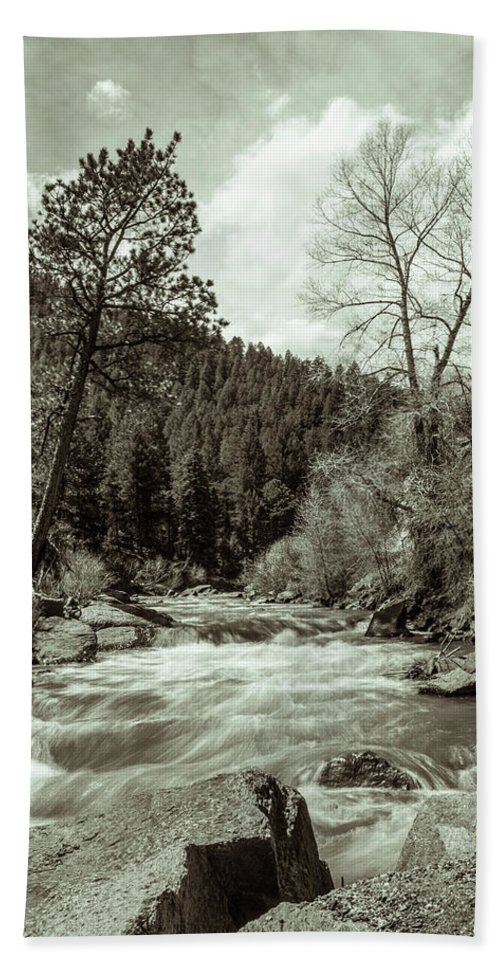 Artisans Beach Towel featuring the photograph Rapids During Spring Flow On The South Platte River by Cary Leppert