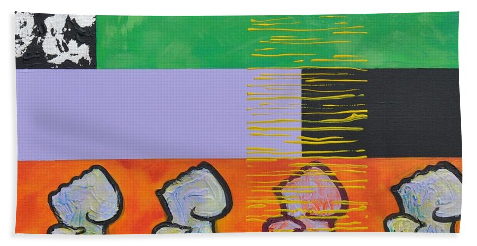 Rapper Beach Towel featuring the painting Rappa Batta by Eduard Meinema
