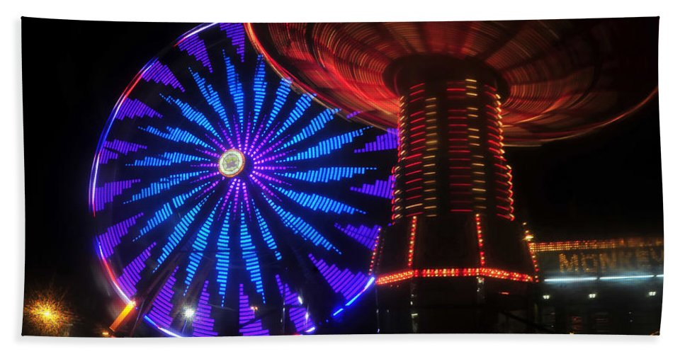 Florida State Fair Beach Towel featuring the photograph Rare Light by David Lee Thompson