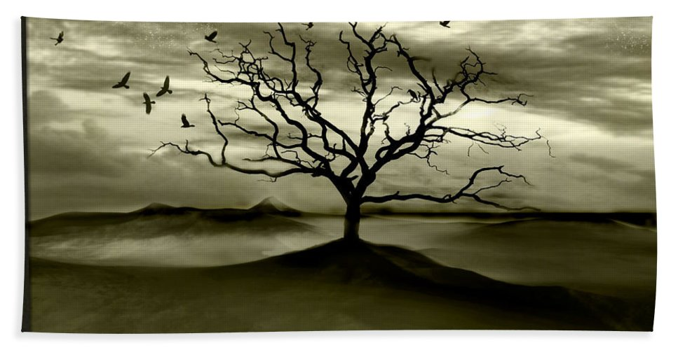 Landscape Beach Sheet featuring the photograph Raven Valley by Jacky Gerritsen