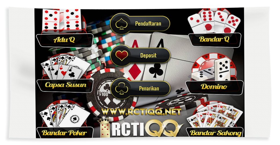 Rctiqq Com Agen Judi Poker Dominoqq Bandarq Sakong Online Terpercaya Indonesia Beach Towel For Sale By Rctiqq 7 Games Dalam 1 User Id