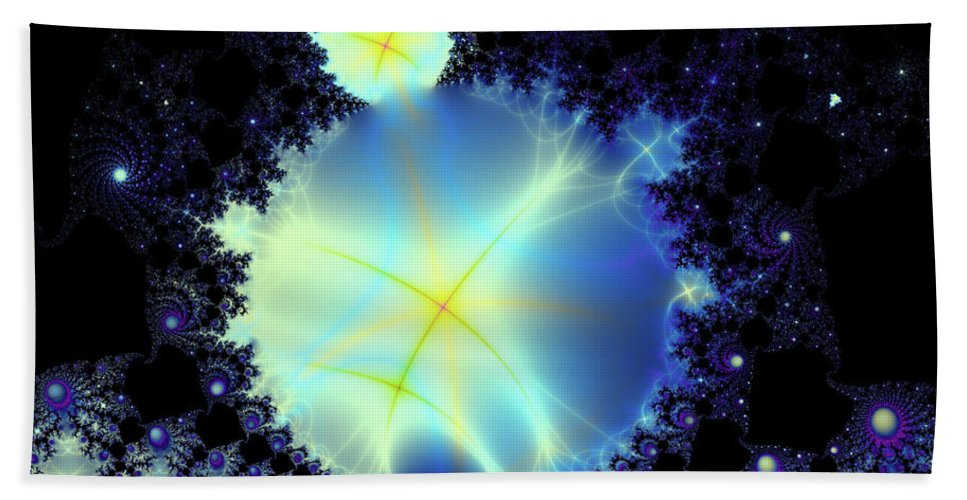 Fractal Beach Towel featuring the digital art Reaching Out by Debra Martelli