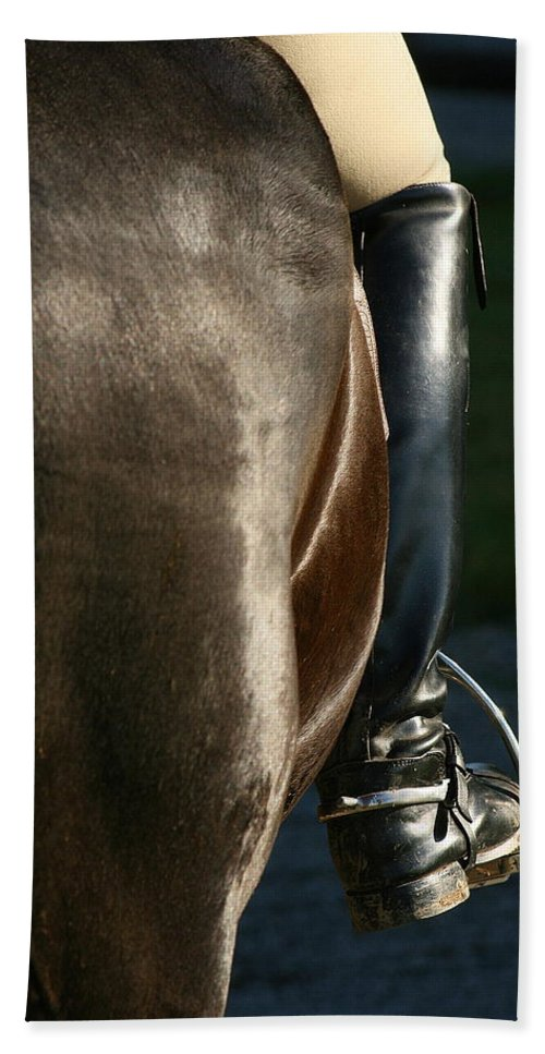 Spurs Beach Towel featuring the photograph Ready by Angela Rath