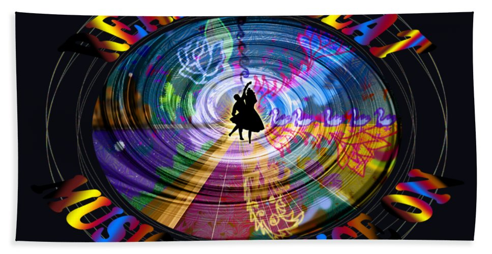 Guest Room Beach Towel featuring the digital art Real City Beat by Artist Nandika Dutt