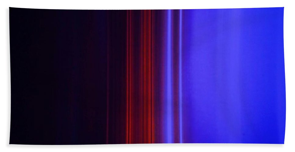 Abstract Blue Beach Towel featuring the painting Realm Of Color by Eric Schiabor