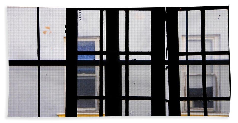 Skip Hunt Beach Towel featuring the photograph Rear Window 1 by Skip Hunt