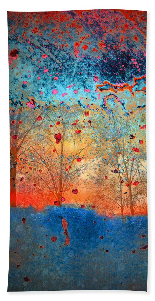 Trees Beach Towel featuring the photograph Rebirth by Tara Turner