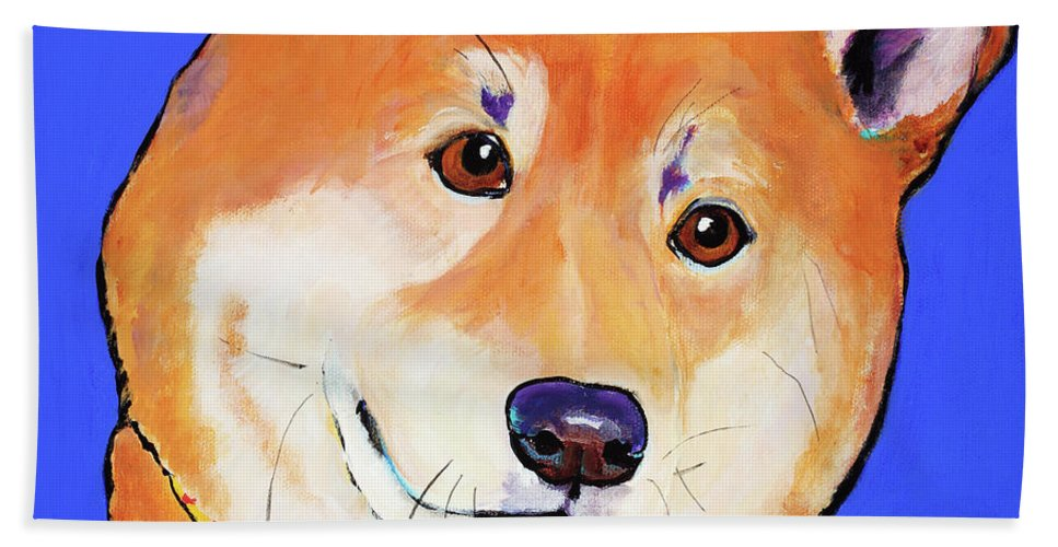Japanese Rescue Relief Beach Towel featuring the painting Reborn by Pat Saunders-White
