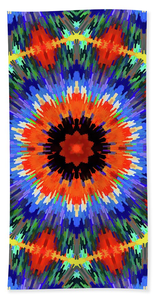 Mandala Art Beach Towel featuring the painting Receives by Jeelan Clark
