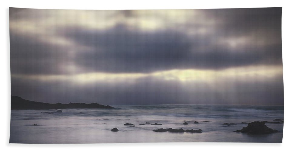 Pescadero Beach Towel featuring the photograph Reckoning by Laurie Search