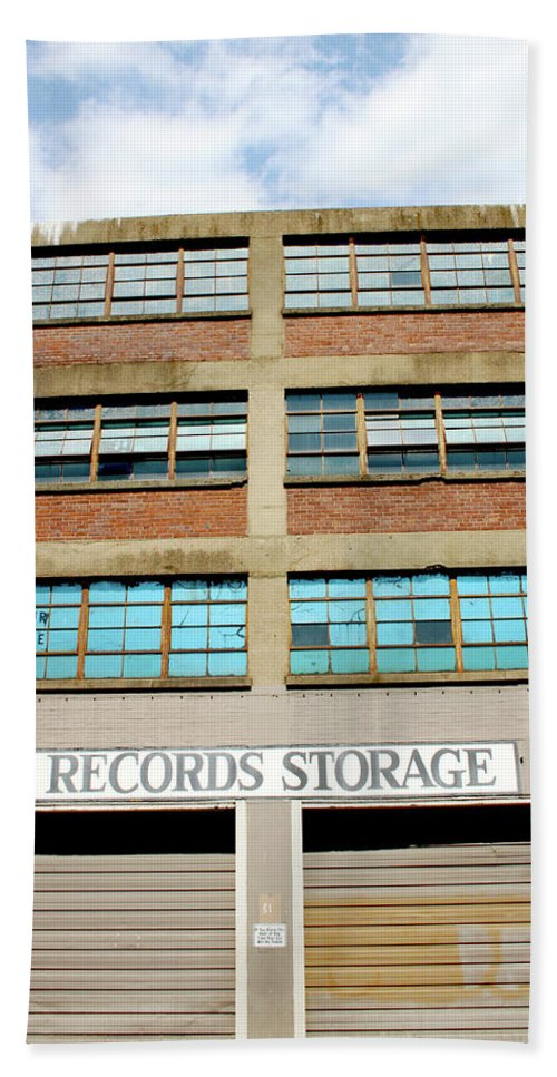 Records Storage Beach Towel featuring the photograph Records Storage- Nashville Photography By Linda Woods by Linda Woods