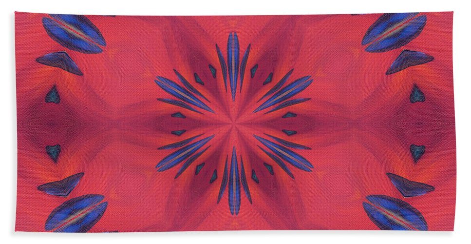 Digital Beach Towel featuring the mixed media Red And Blue by Elizabeth Lock