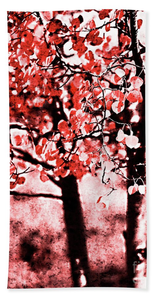 Red Beach Towel featuring the photograph Red Aspen II by Jim And Emily Bush