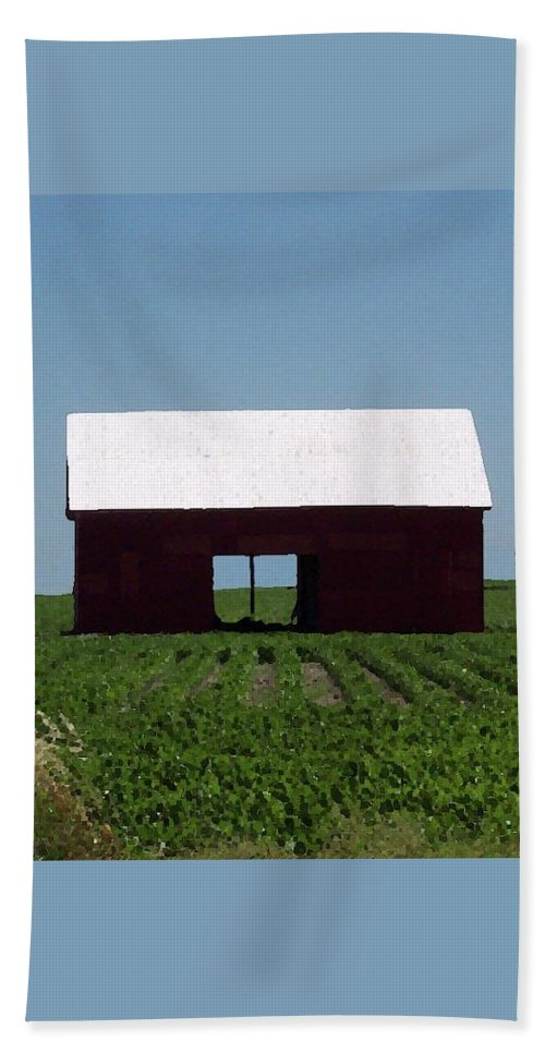 Barn Beach Towel featuring the photograph Red Barn by Amber Stubbs